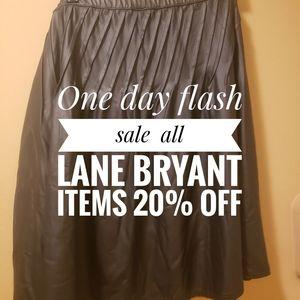 Plus-size black faux leather skirt Lane Bryant